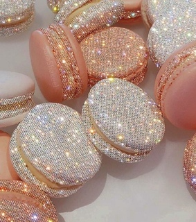 sparkle, pink and pink and white
