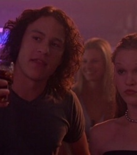 heath ledger, 10 things i hate about you and Julia Stiles