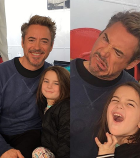 robert downey jr, ironman and lexi rabe