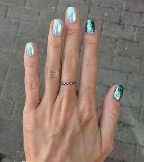 mint, manicure and nailsart