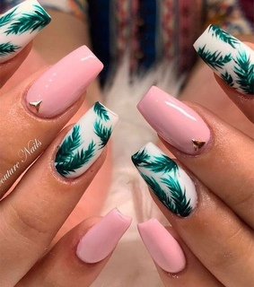 nail art, pink and nails