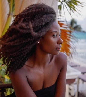 afro hair, natural hair and dark skin