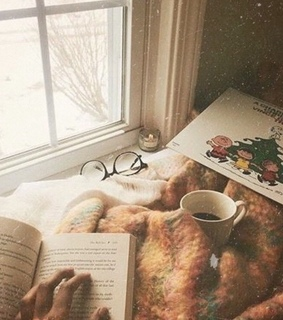 comfy, aesthetic and book