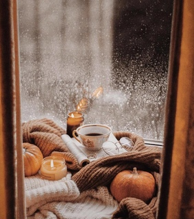candle, fall and sweater