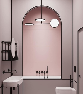 pink, pastel and interior