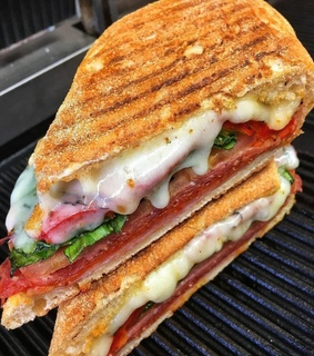sandwich and food