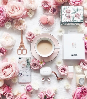 sweets, flowers and coffee time