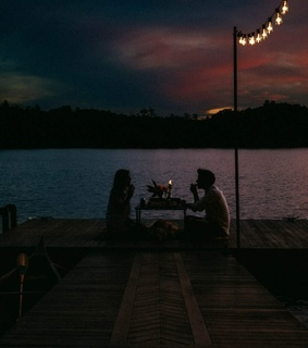 lake, romance and dinner