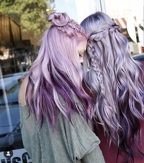 pink, violet and cheveux