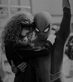 black and white, spider man and couple