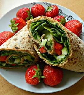 strawberry, food and cucumber