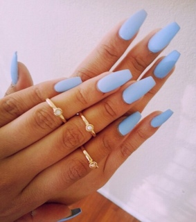 blue, style and nails