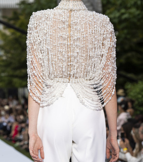 pearls, couture all white and ralph & russo