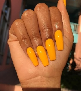 beauty, nails and orange
