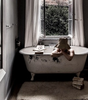 relaxation, home and bathroom