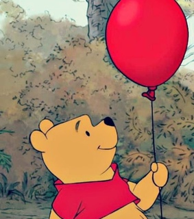 disney, winnie the pooh and red balloon