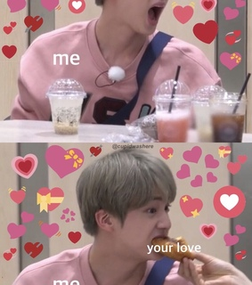 cute, jin and hearts