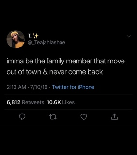 tweet, family member and move out of town