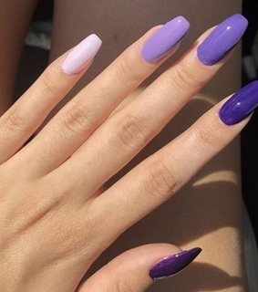 gradient, nails and purple