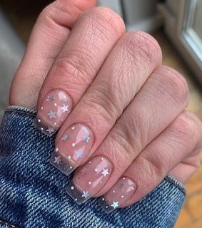 clear, nails and stars