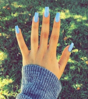 acrylic, blue and nails