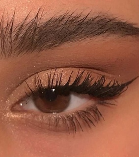 winged liner, shimmer and eyeshadow