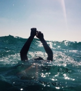swimming, Sunny and ocean