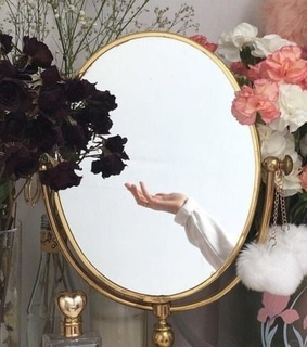 mirror, photography and flowers
