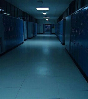 hallway, school and photograph