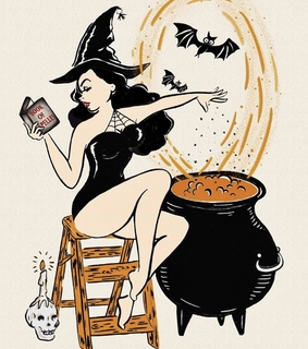 witchy vibes, Pin Up and witch