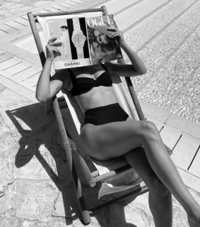 vogue, black and white and pool