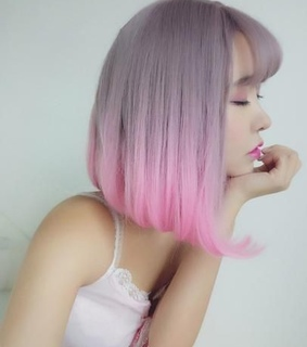 short hair, beauty and pastel