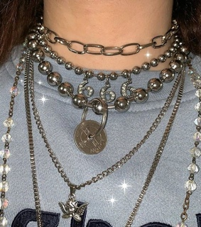 necklace, chains and silver