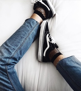 vans, alternative and socks