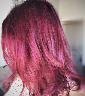 rose gold, pink hair and burgundy