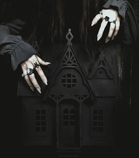 goth, black and witchcraft