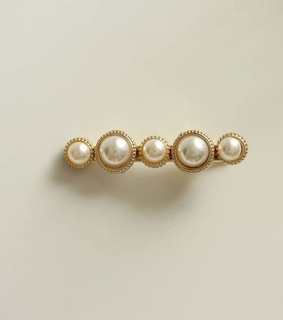 chic, hair barrette and pearl
