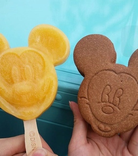 carefree, mickey mouse and ice cream