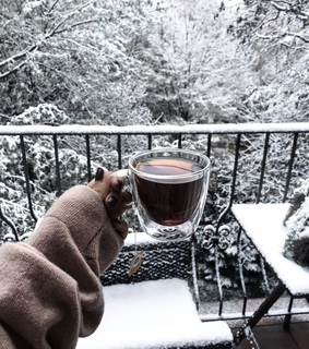 winter, Hot and tea
