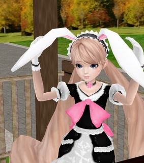 bunny ears, cute and virtual
