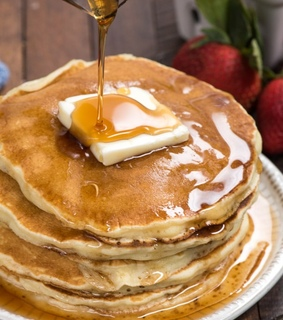 sweets, pancakes and food