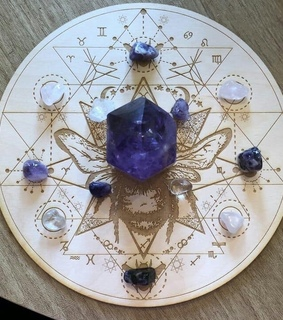 wicca, pendulum board and scrying board