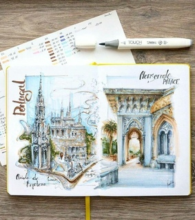 sketch book, diary and art
