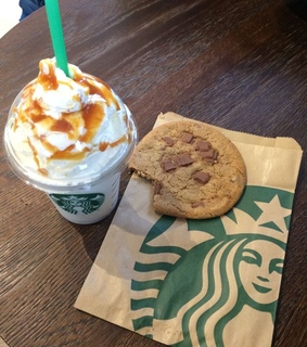 Cookies, whipped cream and starbucks