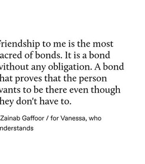 obligations, best friends and bond