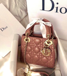 brown purse, dior and brown dior