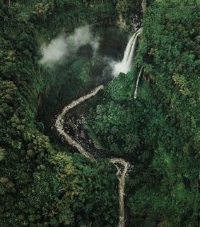 indonesia, waterfall and hiking