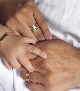 baby, rings and family