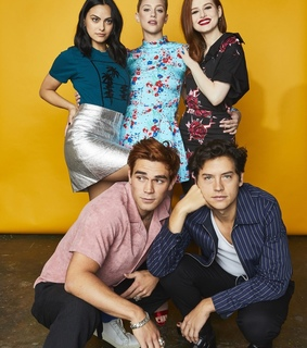 lili reinhart, cole sprouse and madelaine petsch