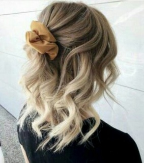 hairstyle, up and curly